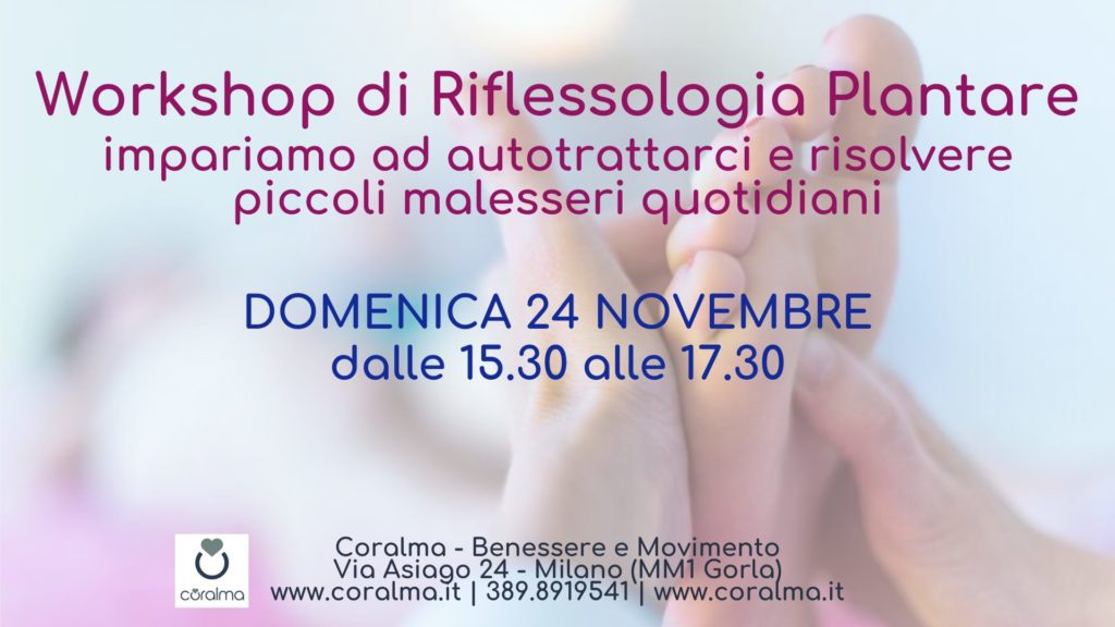 Workshop Autotrattamento Riflessologia